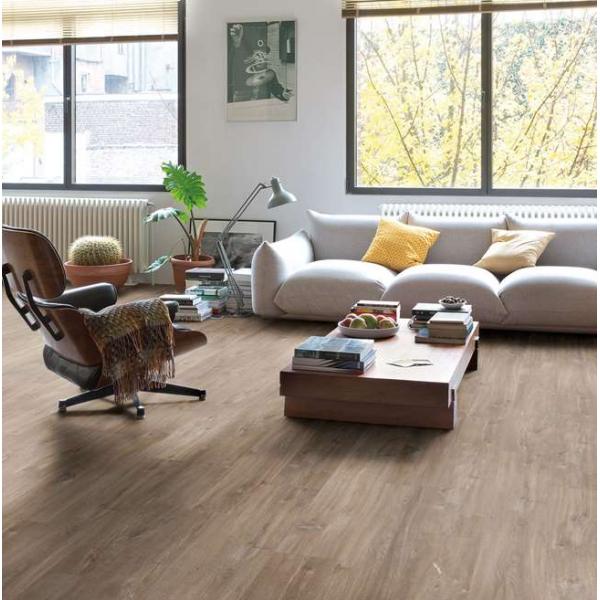 Quick-Step Livyn Balance Click Canyon Oak Dark Brown with Saw Cuts BACL40059 Vinyl Flooring