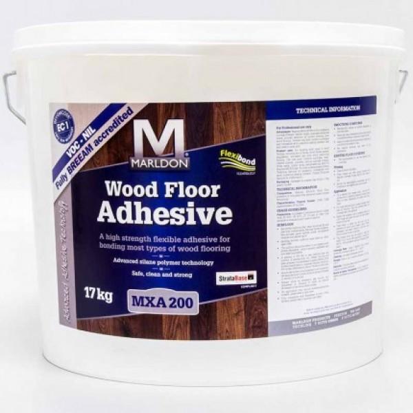 Marldon Woodfloor Adhesive (17kg drum) and Marldon Notch Trowel 3mm