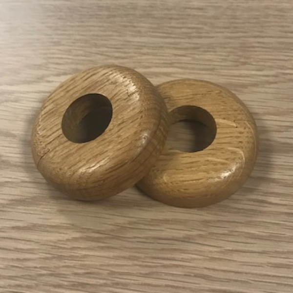 Pre Finished Solid Oak Pipe Cover (Radiator Cover, Ferrule) Set of two