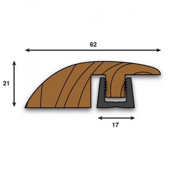 Woodpecker contour solid wood ramp 990mm profile high 18-22mm