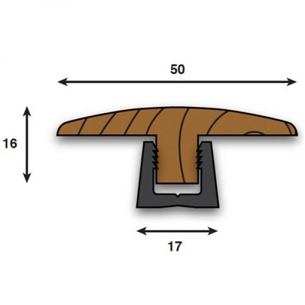 Woodpecker laminate wood effect twin 2700mm profile