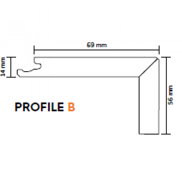 Nosing (Boen) Natural Oak Profile B 2200mm lengths
