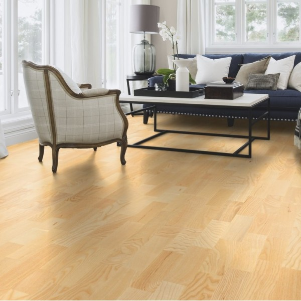 BOEN Ash Andante  3-Strip 215mm Natural Oil Lacquered  Engineered Wood Flooring