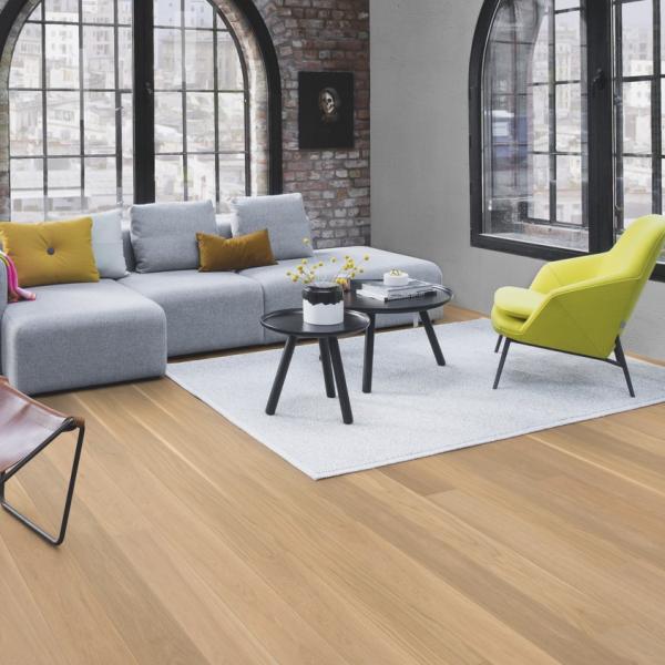 Boen Oak Andante 209 1-Strip Micro Bevel Live Pure Brushed Engineered Wood Flooring