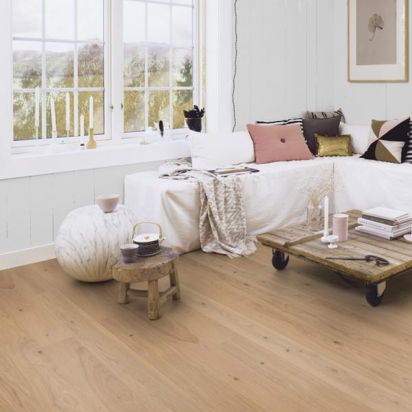 Boen Oak Animoso 138 1-Strip Micro Bevel Live Pure Brushed Engineered Wood Flooring