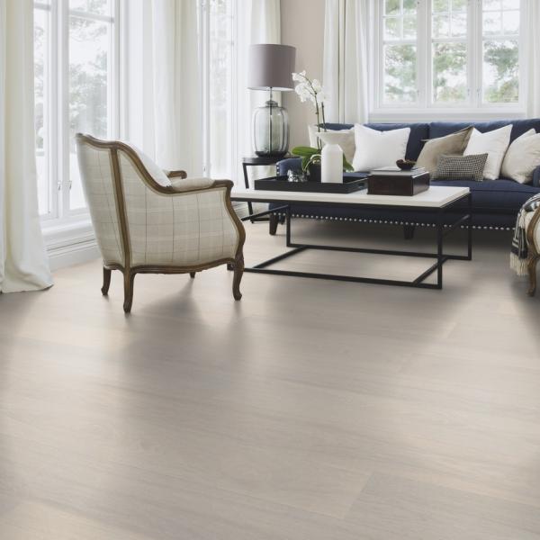 Boen Oak Andante 138 1-Strip Micro Bevel Live Pure Brushed White Pigmented Engineered Wood Flooring
