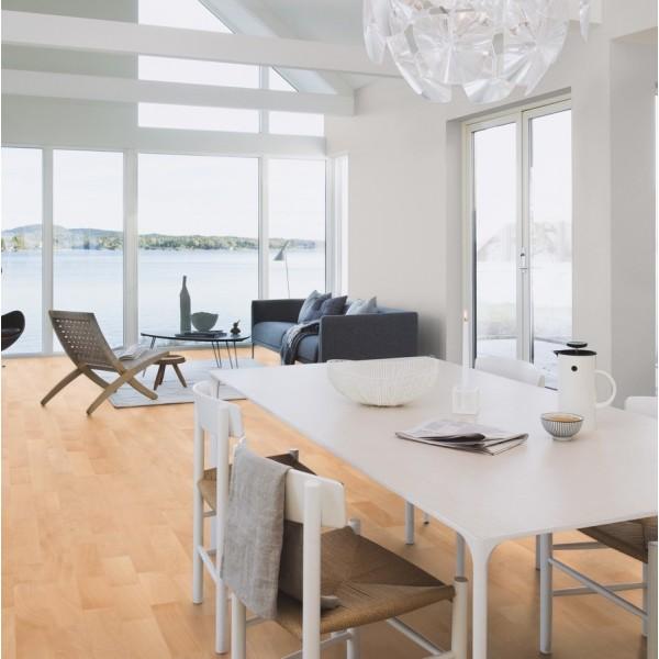 BOEN Beech Andante 3- Strip 215mm Matt Lacquered Engineered Wood Flooring