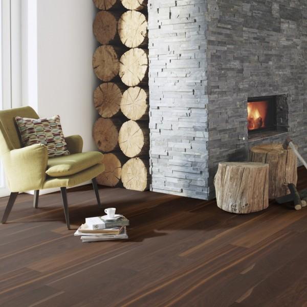 BOEN Finesse Oak Smoked Brushed Oiled Engineered Flooring