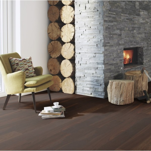 BOEN Finesse Oak Smoked Brushed Oiled Parquet Engineered Flooring