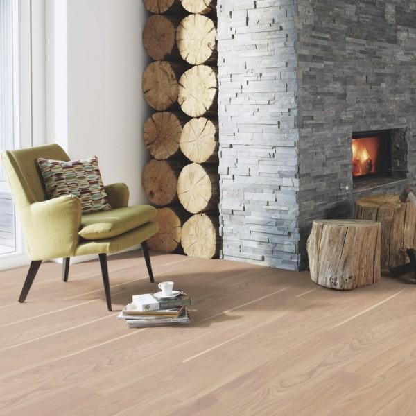 BOEN Finesse Oak White Pigmented Matt Lacquered Parquet Engineered Flooring