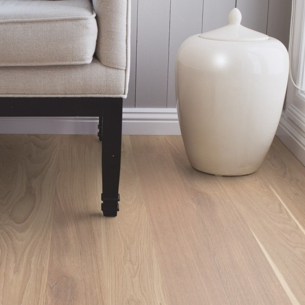 BOEN Finesse Oak White Pigmented Brushed Oiled Parquet Engineered Flooring