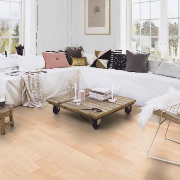 BOEN Maple Canadian Andante 3- Strip 215mmm Matt Lacquered Engineered Wood Flooring