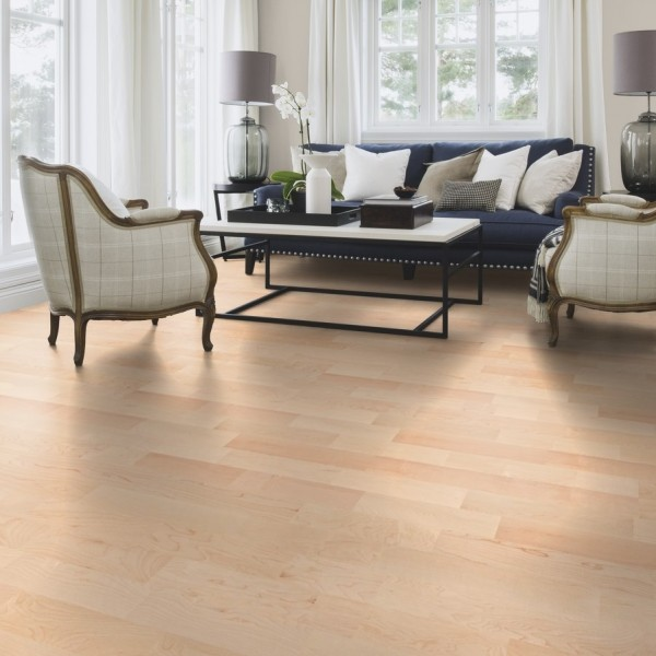 BOEN Maple Canadian Andante 3- Strip 215mm Satin Lacquered Engineered Wood Flooring (D)