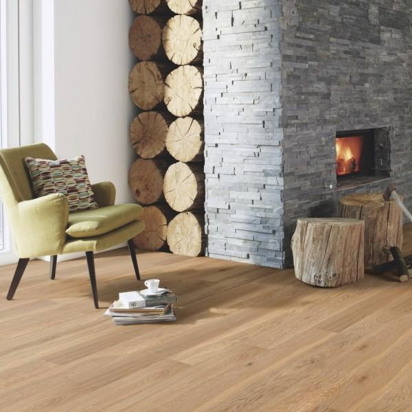 BOEN Finesse Oak Old Grey Brushed Oiled Engineered Flooring (D)