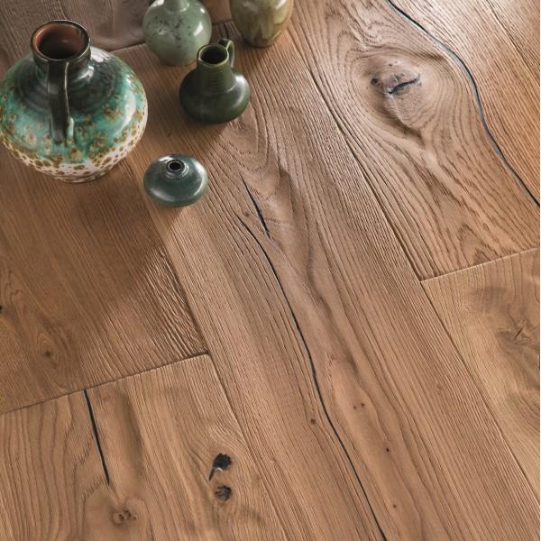 BOEN Oak Epoca Chalet Plank 1-Strip 300mm Live Natural Oil Brushed Engineered Wood Flooring