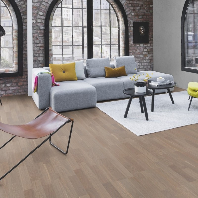 Boen Oak Sand 3 Strip Natural Oil Engineered Wood Flooring