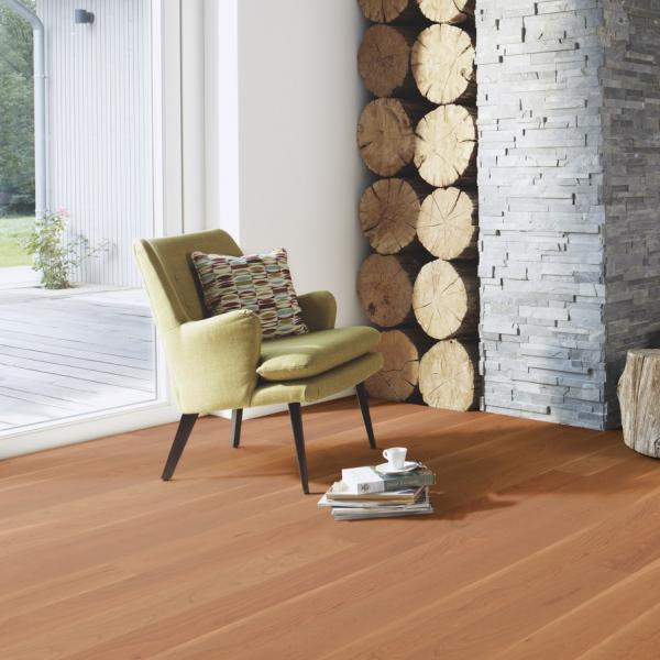 BOEN Cherry American 1-Strip Satin Lacquered Engineered Wood Flooring (D)