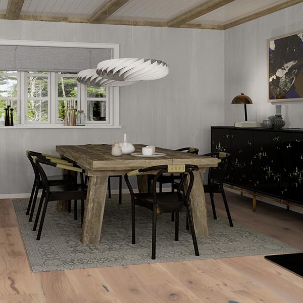 Boen Oak Espressivo (white) Oiled 181mm Brushed Bevelled Engineered Wood Flooring (D)