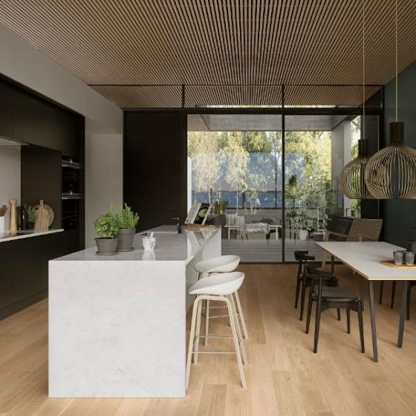 Boen Oak Andante 181mm 1-Strip Micro Bevel Live Pure Brushed Engineered Wood Flooring