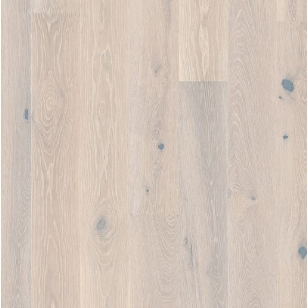 BOEN Oak White Stone 1-Strip 181mm Natural Oil Brushed Engineered Wood Flooring