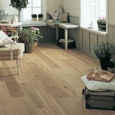 Elka Rustic UV Brushed and Oiled Oak Engineered Wood Flooring