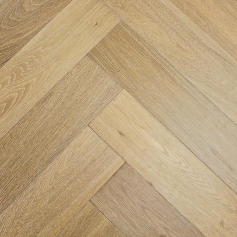 Light Smoked Oak Engineered Herringbone Flooring By Elka