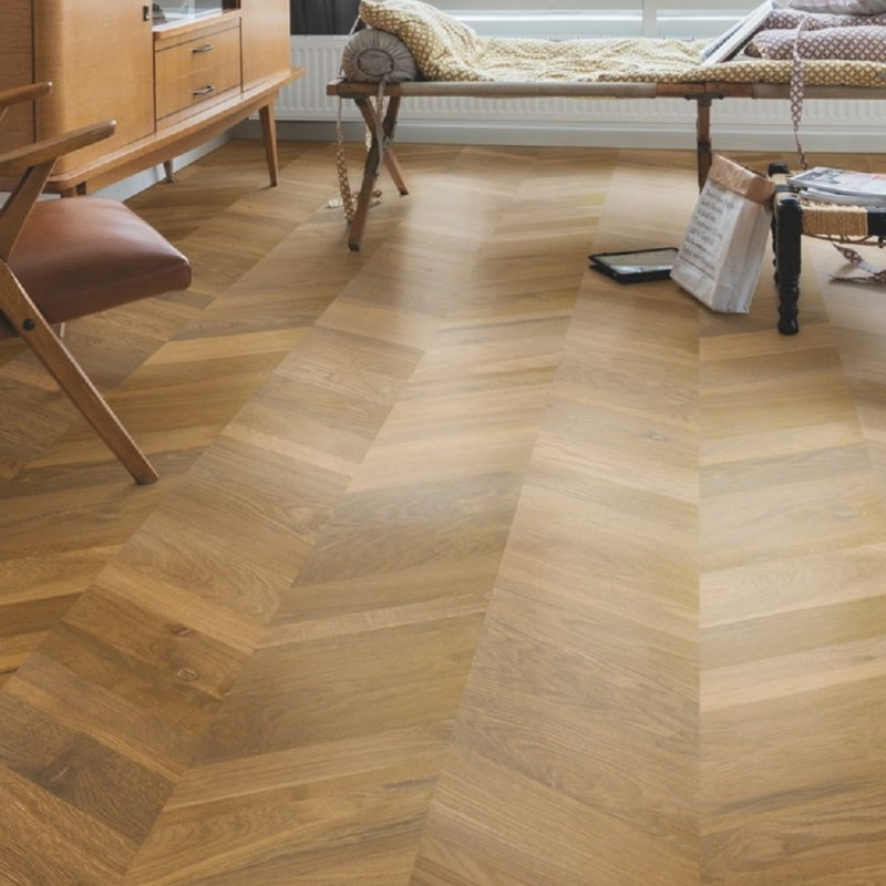 Quick Step Intenso Traditional Oak Oiled Chevron Engineered Wood