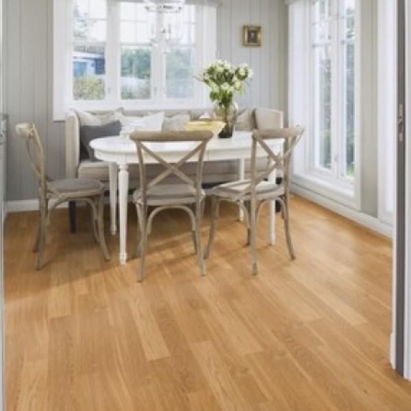 Boen Oak Natural Maxi 1-Strip Matt Lacquered Parquet Engineered Wood Flooring