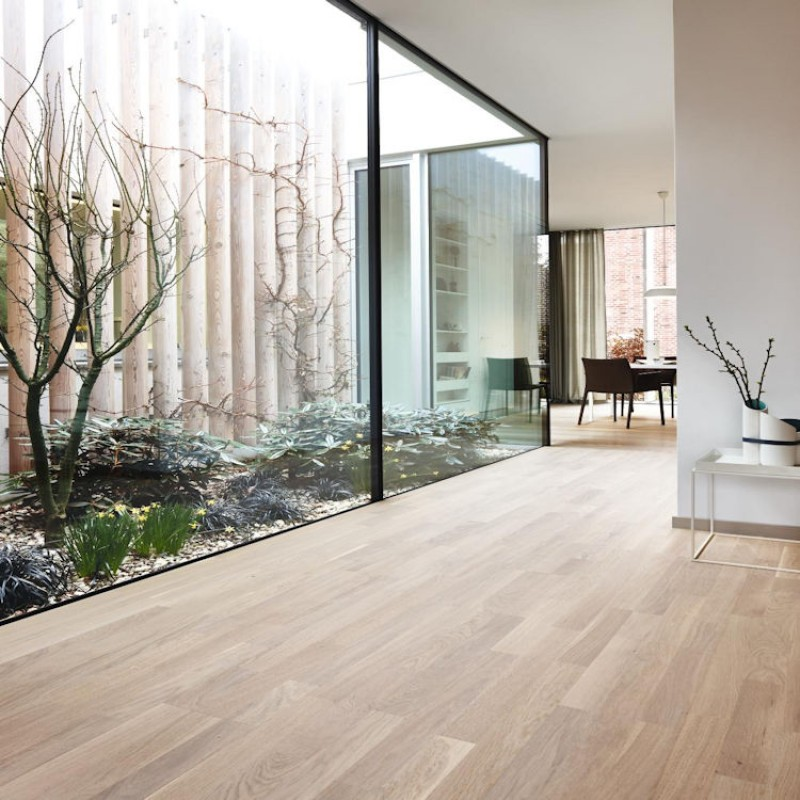 Boen Oak Pearl 3 Strip Natural Oil, Boen Engineered Wood Flooring