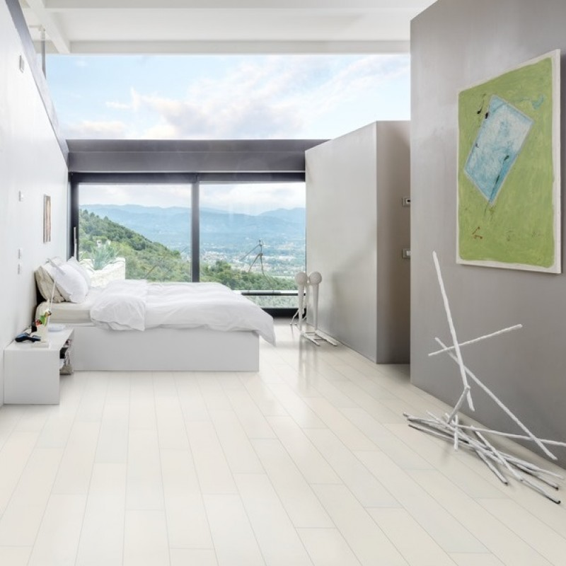 kahrs ash blizzard white stained matt lacquered engineered wood flooring