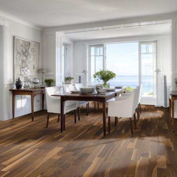 Kahrs Walnut Hartford Satin Lacquered Engineered Wood Flooring