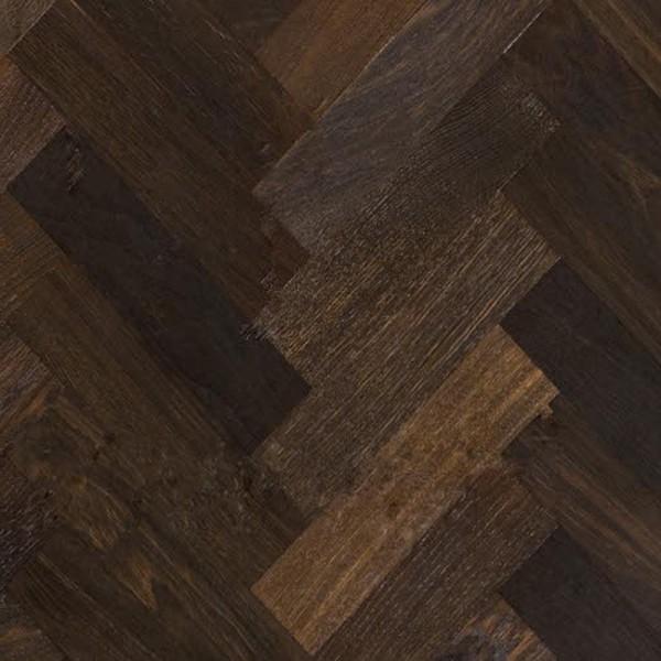 Kahrs Oak Herringbone (Smoked) Matt Lacquered Engineered Parquet Flooring