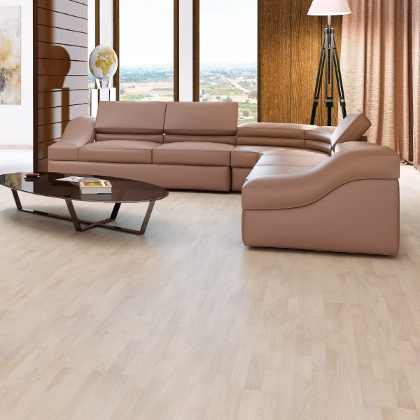 Norske Oak Skien 3-Strip 207mm Matt Lacquered Brushed Engineered Wood Flooring