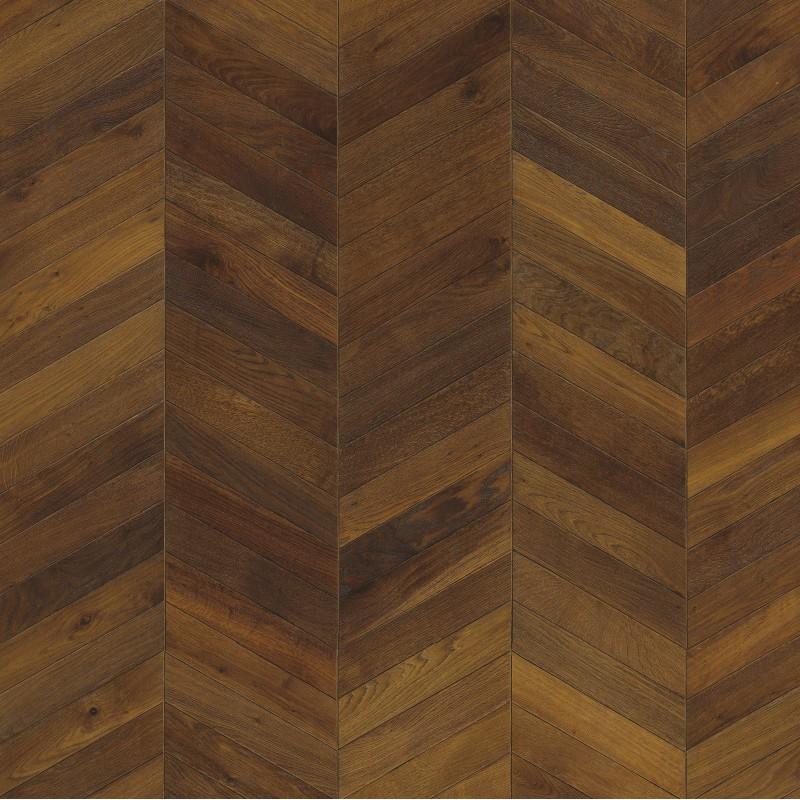 Kahrs chevron oak dark brown oiled engineered wood flooring for Chevron laminate flooring