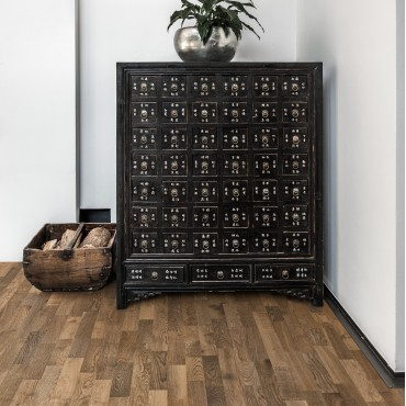 Kahrs Oak Dusk (Smoked) 3-Strip Ultra Matt Lacquered Brushed Engineered Wood Flooring