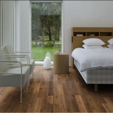 Kahrs Oak Glow 2-Strip Ultra Matt Lacquered Smoked Brushed Engineered Wood Flooring