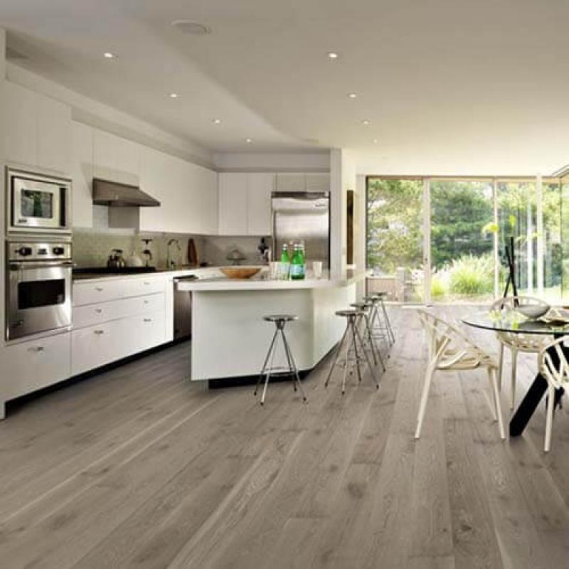 Kahrs Oak Nouveau Gray Matt Lacquered Engineered Wood Flooring