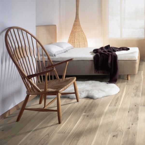 Kahrs Oak Torrox Brushed and White Oiled Engineered Wood Flooring