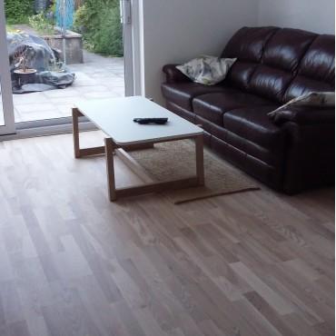 Norske Ash Drobak 3-Strip Matt Lacquered Engineered Wood Flooring