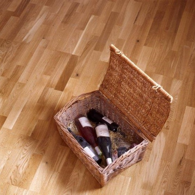 Norske Oak Joshua Satin Lacquered Engineered Wood Flooring