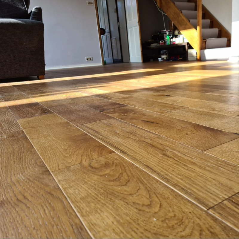 Norske Oak Hazel Brushed and Lacquered Engineered Wood Flooring