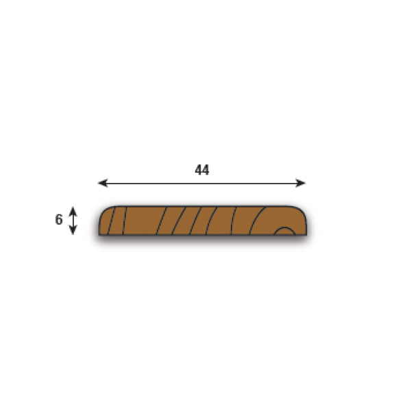 Parallel Coverplate 44mm (2300mm lengths)