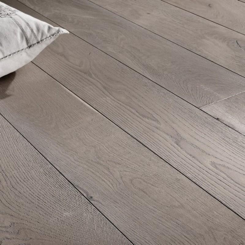 OFD Oak Callisto Brushed Grey Smoked and Oiled Engineered Wood Flooring