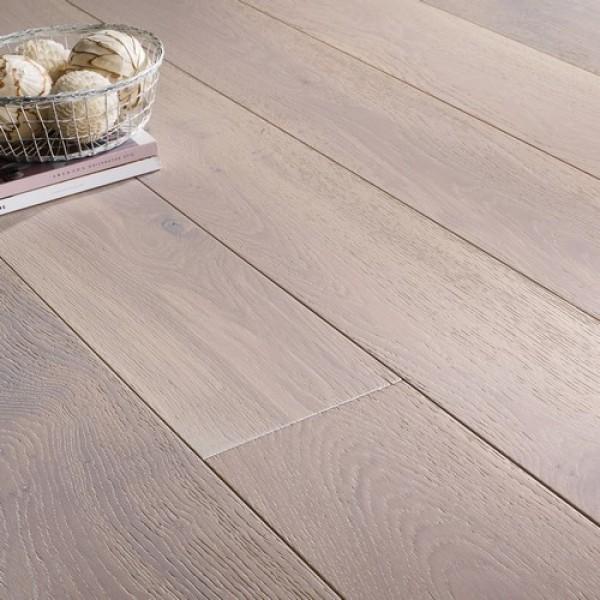 OFD Oak Mercury White Lacquered Engineered Wood Flooring