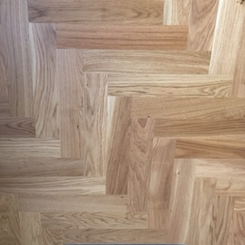 Ofd Oak Rustic Lacquered Engineered Herringbone Wood Flooring