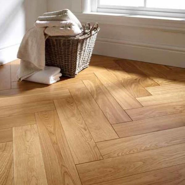 OFD Oak Milsom Lacquered Engineered Herringbone Flooring