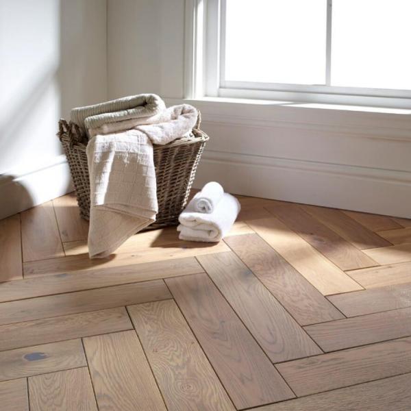 OFD Oak Seabank Oiled Engineered Herringbone Flooring