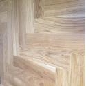 OFD Rustic Oak Lacquered Engineered Herringbone Flooring