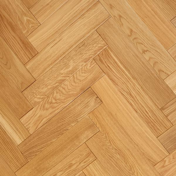 OFD Oak Archer Brushed and Matt Lacquered Engineered Herringbone Flooring