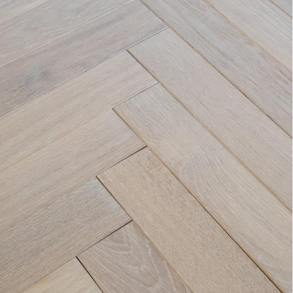 OFD Oak Hellier Brushed and Matt Lacquered Engineered Herringbone Flooring